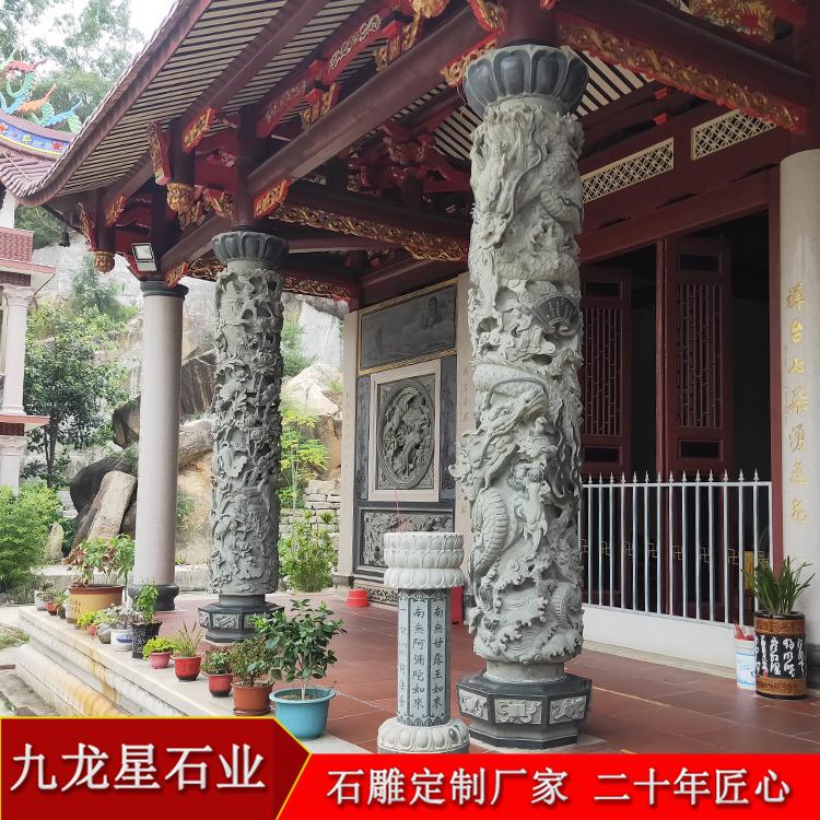 石材盘龙的柱子 龙蟠柱子石雕图片