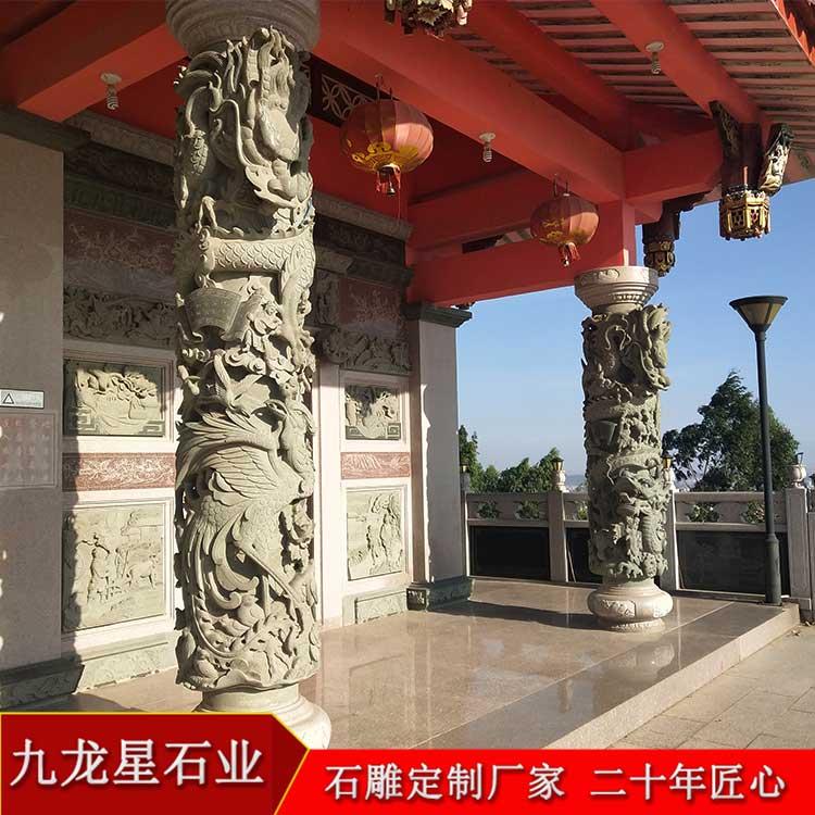 这么逼真的盘龙柱图片,他就是传说中的石雕盘龙柱