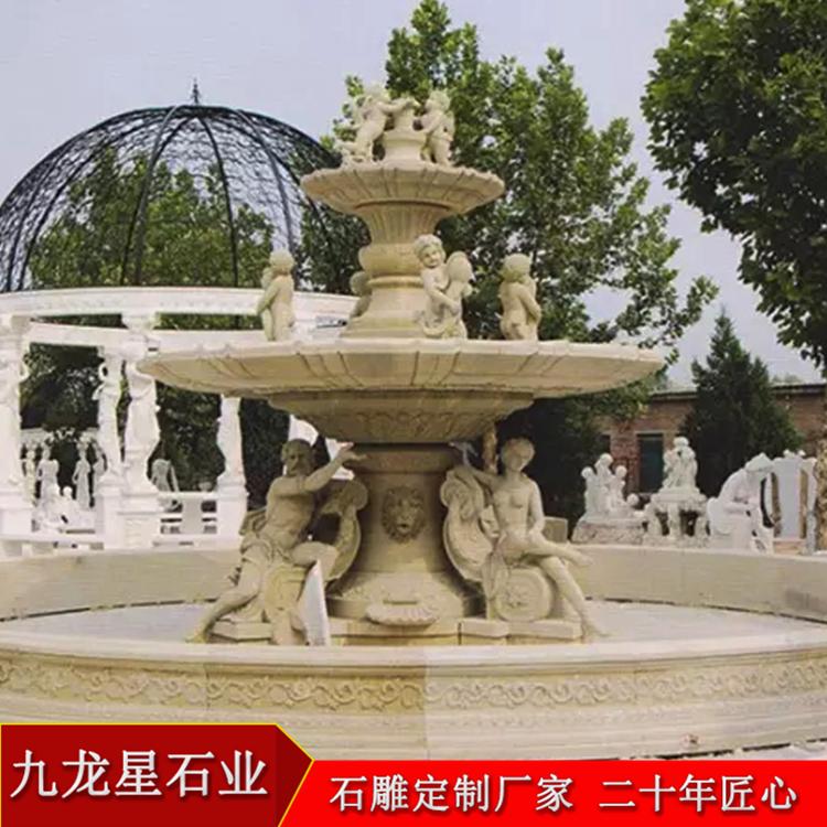 一件石雕喷泉水景_石雕喷泉多少钱