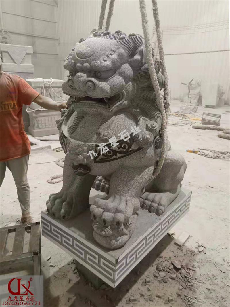 永泰县人民法院▪芝麻黑石雕狮子